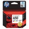 CZ102E Tintapatron Deskjet Ink Advantage 2510 sor nyomtatókhoz, HP 650 színes, 200 oldal