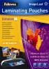 Meleglamináló fólia, 80 mikron, A4, fényes, 25 db, FELLOWES