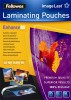 Meleglamináló fólia, 80 mikron, A5, fényes, 25 db,  FELLOWES