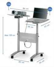 Vetítőállvány projektorhoz, multimédia NOBO
