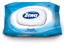 Toalettpapír, nedves, 40 db, ZEWA, fresh