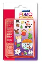 Szilikonos nyomóforma, FIMO, karácsony