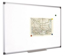 Fehértábla, mágneses, 100x200 cm, alumínium keret, VICTORIA