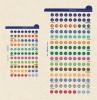Kalendárium betét, öntapadó szervezőcímke, kicsi, FILOFAX, színes