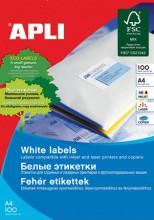 Etikett, univerzális, 210x297 mm, APLI, 100 etikett/csomag