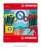 Grafitecruza display, HB, háromszögletű, jobb és balkezes, STABILO