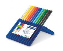 Színes ceruza készlet, háromszögletű, vastag, STAEDTLER