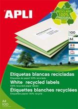 Etikett, univerzális, 105x35 mm, újrahasznosított, APLI, 1600 etikett/csomag