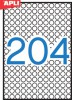 Etikett, 10 mm kör, A5 hordozón, APLI, 3060 etikett/csomag